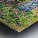 Rose cottage Metal print