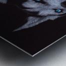 HUSKY_COLOR PENCIL_65.50X80.50 Metal print