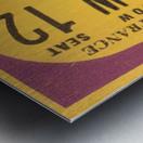 1968 LA Lakers  Metal print