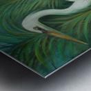 white heron 2 Metal print