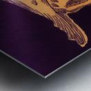 vintage college mascot art tcu horned frogs ft worth texas Metal print