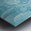 Buddha Mandala blue turqouise Metal print