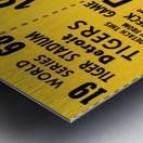 1968 Detroit Tigers World Series Ticket Art Metal print