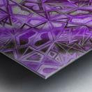 Purple Fractal Kaleidoscope Handdrawing Metal print