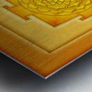 Golden Sri Yantra III Metal print
