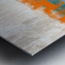 Blue Gray Orange Abstract DAP 20014 Metal print
