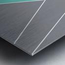 Gray Teal Triangles Geometric Art GAT101-2 Metal print