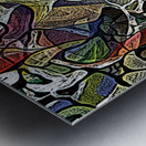 Linear Geometric Abstract  Metal print
