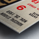 1959 Army Navy Game Ticket Metal print
