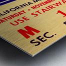 1964 California vs. Stanford Metal print