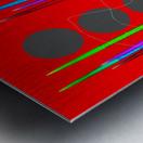 HorizonRedCircles Metal print