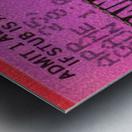 1982 San Francisco Giants Ticket Stub Art Metal print