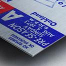 1973 New England Patriots Season Tickets Metal print