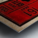 1933 Comiskey Park All-Star Game Ticket Art Metal print