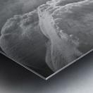 Winter River Smoke Metal print
