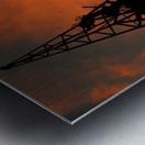 Sunset port tower cranes Metal print