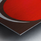 Retro Cleveland Browns Helmet Art Metal print