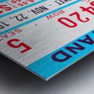 1980 Ole Miss vs. Miss State Football Ticket Stub Art Metal print