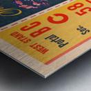 1948 Vanderbilt vs. Alabama Ticket Art Metal print