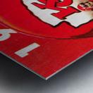 1984 Kansas City Chiefs Football Poster Metal print
