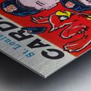 1961 St. Louis Cardinals Yearbook Poster Metal print