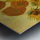 Still life with sunflowers by Van Gogh Metal print