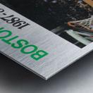 1987 Boston Celtics Larry Bird Poster Metal print