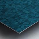 Dark Blue Glitter Pattern Metal print