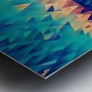 abstract blue sky ocean Metal print