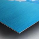 mt ranier art blue sky Metal print