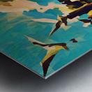 gulls laurence sisson maine art remix Metal print