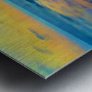 Yellow Sky at Manhattan Beach Metal print