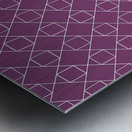 Light Purple Squares And Diamonds Pattern Metal print
