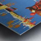 Hamburg-Sud Billige Mittelmeerreisen Original Poster Metal print