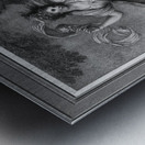 Mrs. Abington as Thalia by Engraver Francesco Bartolozzi Classical Art Old Masters Reproduction Metal print
