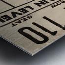 1975 Indiana vs. Iowa Basketball Ticket Metal Sign Metal print