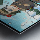 Winter Wonderland Fun   Playing in the Snow   4 panel Favorites for Kids Room and Nursery   Bugville Critters Metal print