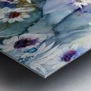Blue Floral Metal print