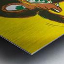 1957 Baylor Bear Football Art Remix Metal print