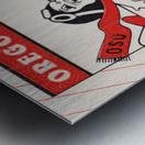 1985 Oregon State Beaver Football Ticket Stub Remix Art Metal print