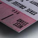 1973 UNLV Rebels vs. Central Arkansas Bears Football Ticket Art Metal print