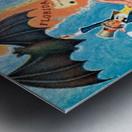 Visit Cupa vintage travel poster Metal print