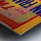 Fly TWA San Francisco poster Metal print