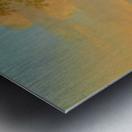 Travellers in a river landscape Metal print