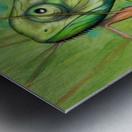 green chameleon Metal print