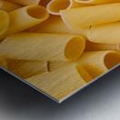 Dry pasta background  Metal print