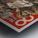 International women's day, March 8 Soviet propaganda poster Metal print