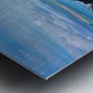 Leaning wrecks Metal print