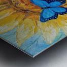 Подсолнух и бабочка Metal print