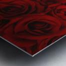 I Love You Card Beside Roses Metal print